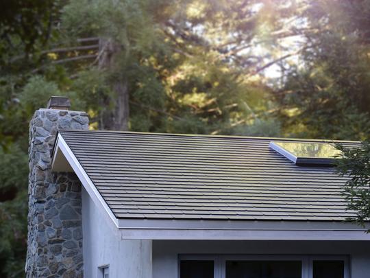 Tesla recently installed its Solar Roof tile system
