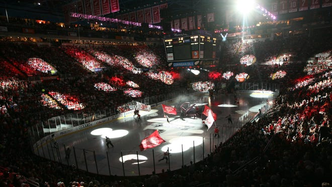 Joe Louis Arena before Game 1 of the 2009 Stanley Cup finals.