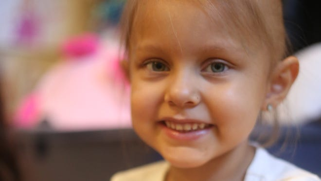 Desi Cechin, 5, is heading to New York on a trip her family hopes is a critical turning point in Desi's fight with a rare cancer.