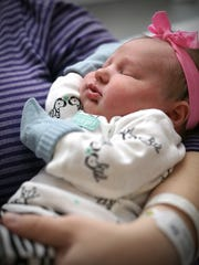 Abbigale Sage Willow Spillman says hello to 2015 as the first baby born in Richland County.