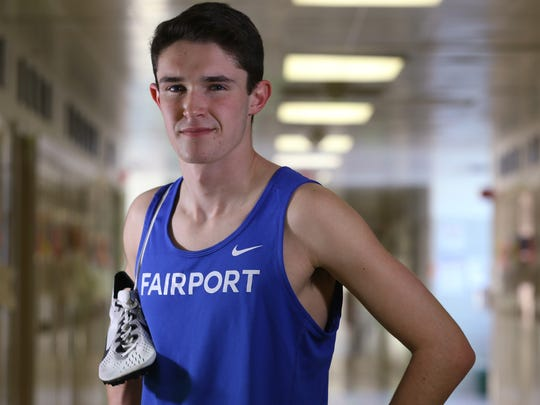 AGR Indoor Track Athlete of the Year, Fairport's Ben Bulkeley.