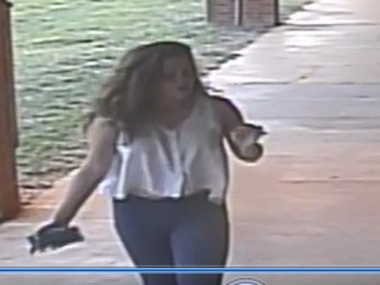 Two girls entered the Buck Lake Elementary School campus Sunday evening, setting fire to a soccer ball, according to Leon County Sheriff's detectives.