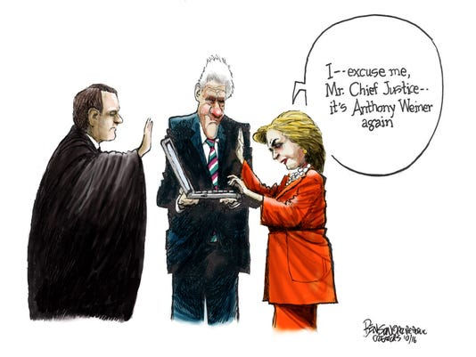 Hillary's swearing-in ceremony