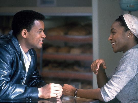 "Will Smith and Nona Gaye, as 2nd wife Belinda, in a scene from the motion picture ""Ali."""