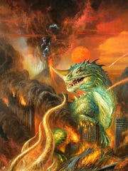"Bob Eggleton's ""Hell Kaiju"" is featured in the book"