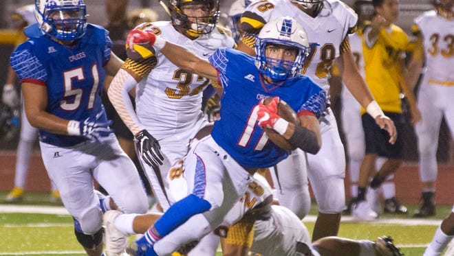 Las Cruces High sophomore wide receiver Ivan Molina has been a big part of the Bulldawgs' offense this season. Las Cruces hosts Gadsden Thursday night at the Field of Dreams in the Bulldawgs' District 3-6A opener.