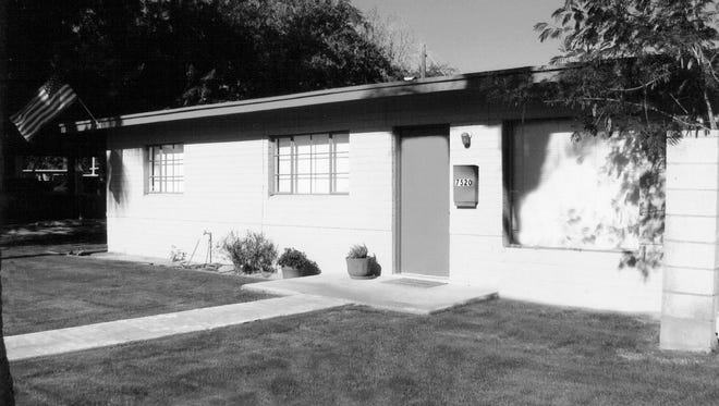 Simple three bedroom, one bath concrete block homes were constructed on the old Shaller farm land, west of Miller near today's Civic Center Mall.