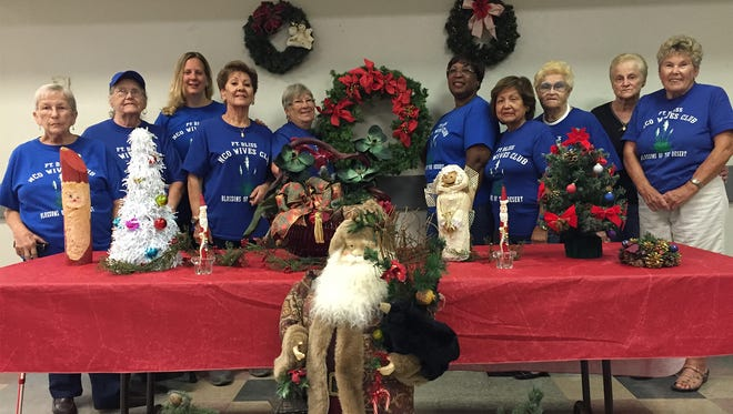 Members of the Fort Bliss NCO Wives Club have been busy preparing for their annual Fort Bliss Holiday Bazaar which will be held Saturday and Sunday at the Trading Post.