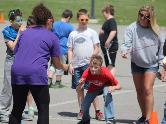 Jump rope was one of several stations for students