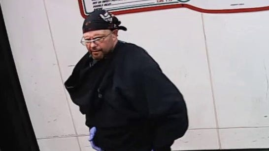 Suspect in knifepoint robbery.