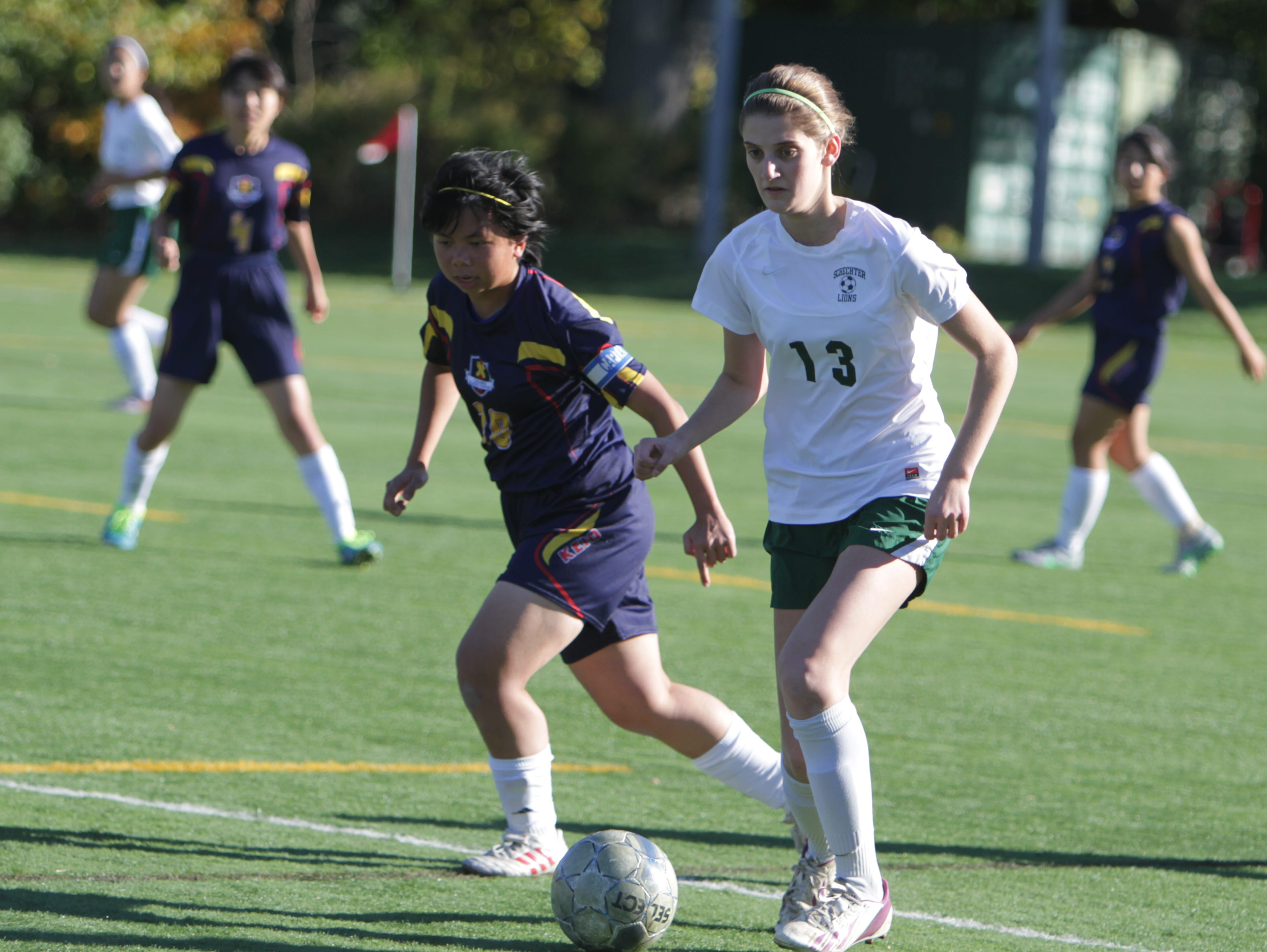 Solomon Schechter defeated Keio 9-2 in a Class C sectional quarterfinal game at Keio Academy, Purchase, on Monday, October 26th, 2015.