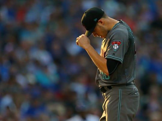 Aug 1, 2017: Arizona Diamondbacks starting pitcher