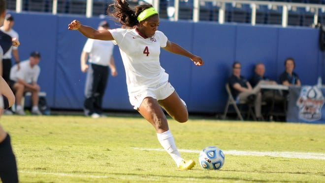 Senior Jamia Fields hits a late goal to give FSU a 1-0 victory over Virginia in the National Championship.