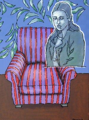"Paul Harmon, ""The Unwritten Ode,""  oil on canvas."