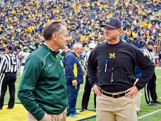 Michigan Wolverines, Jim Harbaugh, Michigan State, Mark Dantonio