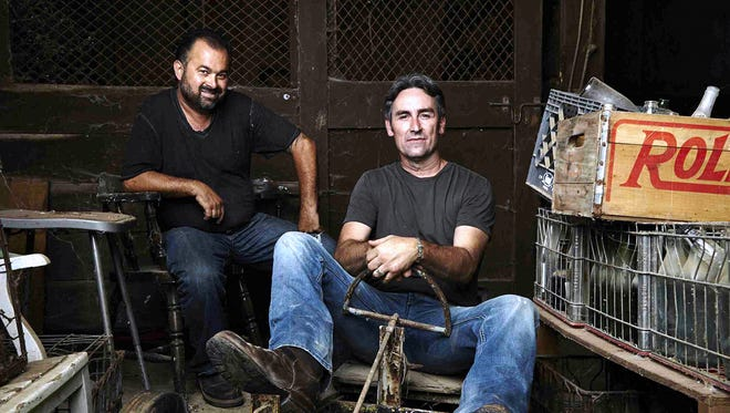 """""""American Pickers"""" hosts Frank Fritz, left, and Mike Wolfe will be back in New York this summer looking for hidden gems of Americana."""