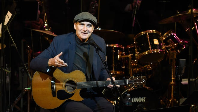 James Taylor, shown here performing Jan. 20 in New York City, will come to Binghamton on July 29.
