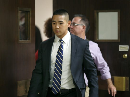 Charlie Tan leaves the courtroom at the end of the seventh day of jury deliberations during his murder trial in this 2015 file photo.