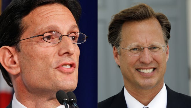 Eric Cantor, left, and Dave Brat
