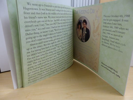 This is an example of a storybook Laura Scearce put