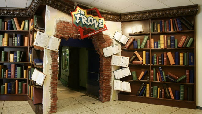 The entrance to The Trove children's library on the second floor of the White Plains Library on Martine Avenue in White Plains.