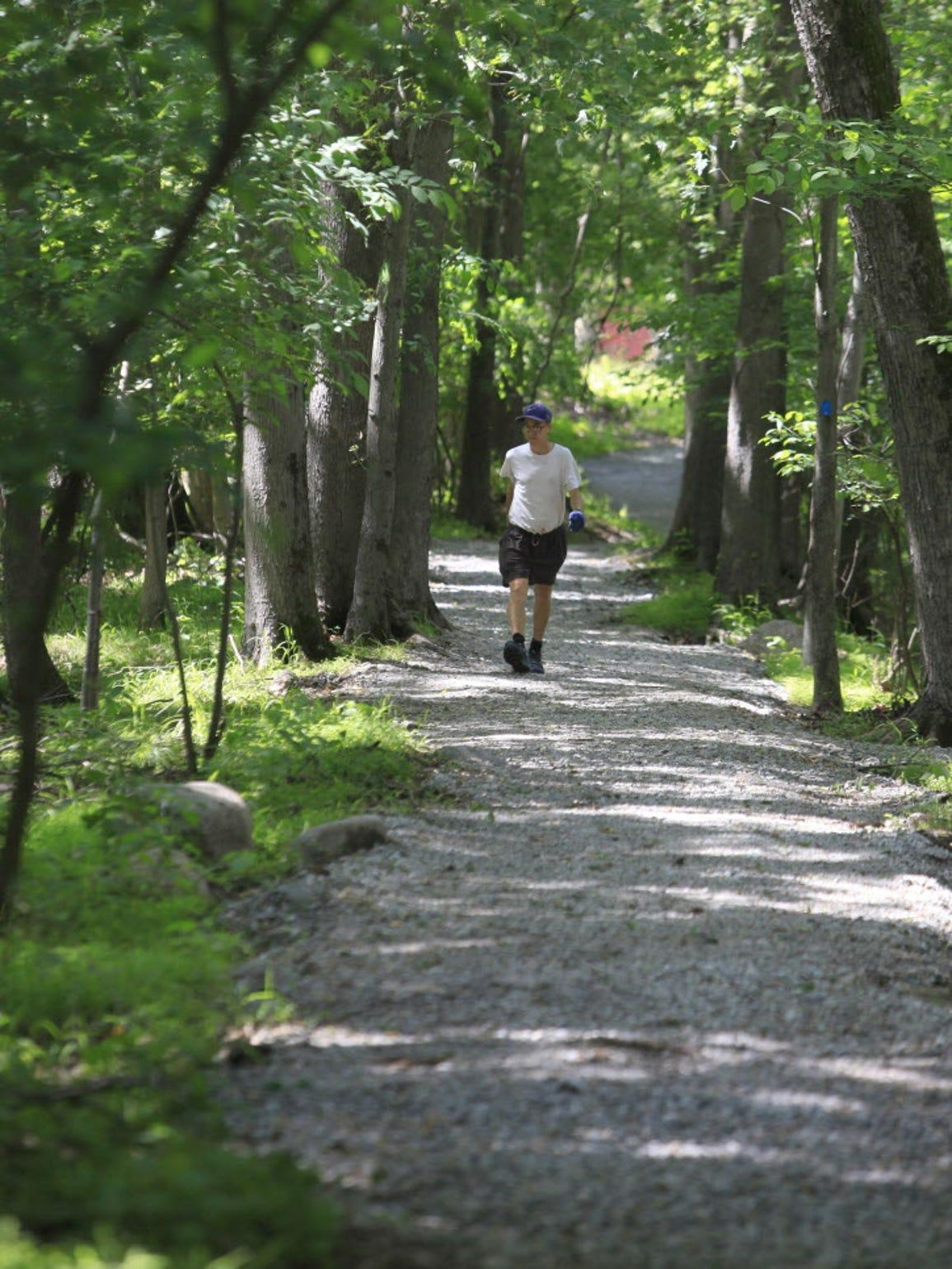 William McSheffrey walks the Pompton Aquatic Park trail