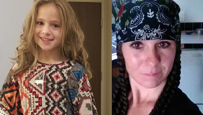 Urijah Livingston, left, was reported missing from Haskell, Texas, in July 2018. Police say she might be with Desiree Ward, right, in the Sparks area.