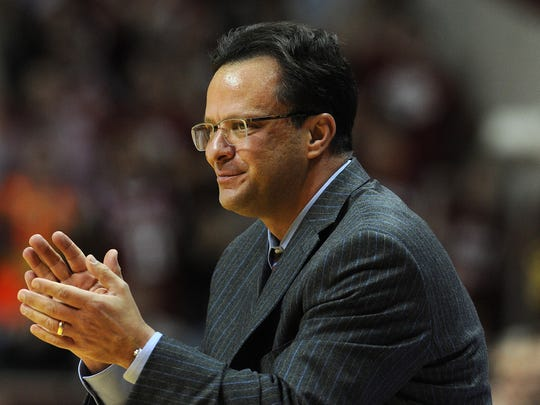 Indiana head coach Tom Crean during the game against Wisconsin.