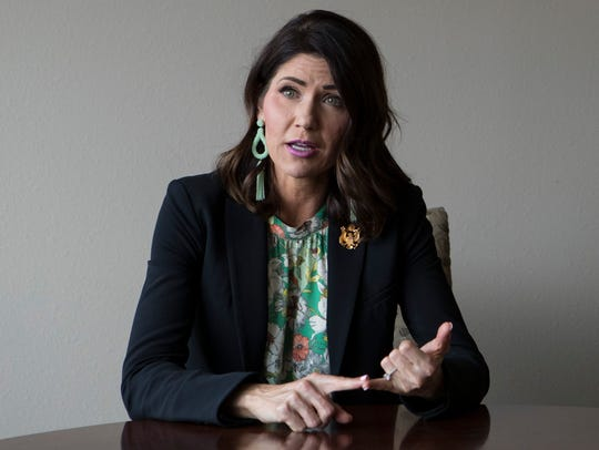 Gubernatorial candidate and Congresswoman Kristi Noem