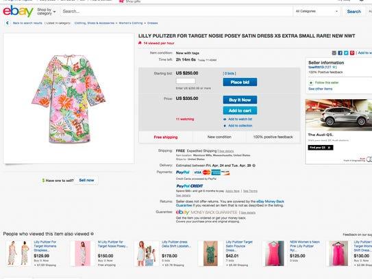 The dress originally sold for $38.