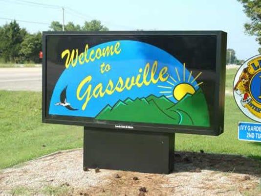 Gassville sign