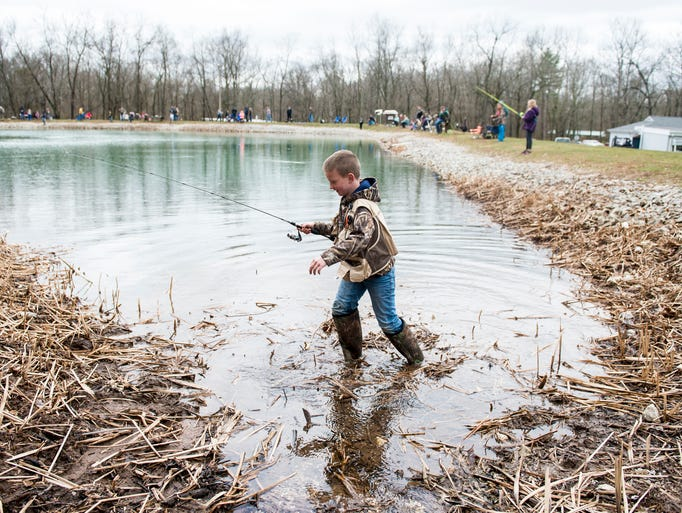 Photos youth fishing event marks the first day of trout for Pa fishing season 2017