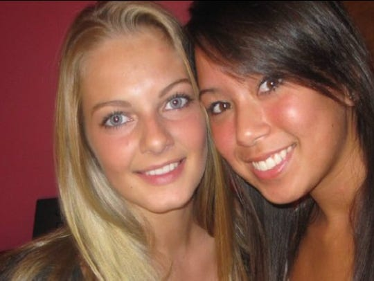 Nicole Trott (left) with Melody Smith.