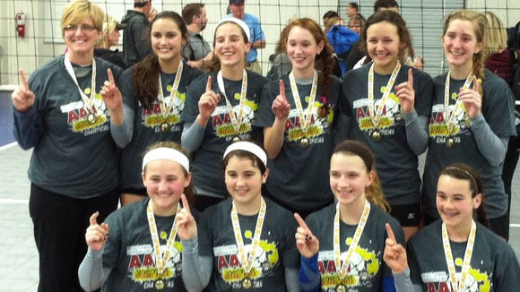 The Xcel Volleyball Performance 14X Select team.