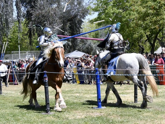 The 29th annual Tulare County Renaissance Festival at Plaza Park on Saturday, April 21, 2018.