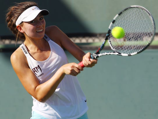 Rancho Mirage High School's Tatiana Harvey competes