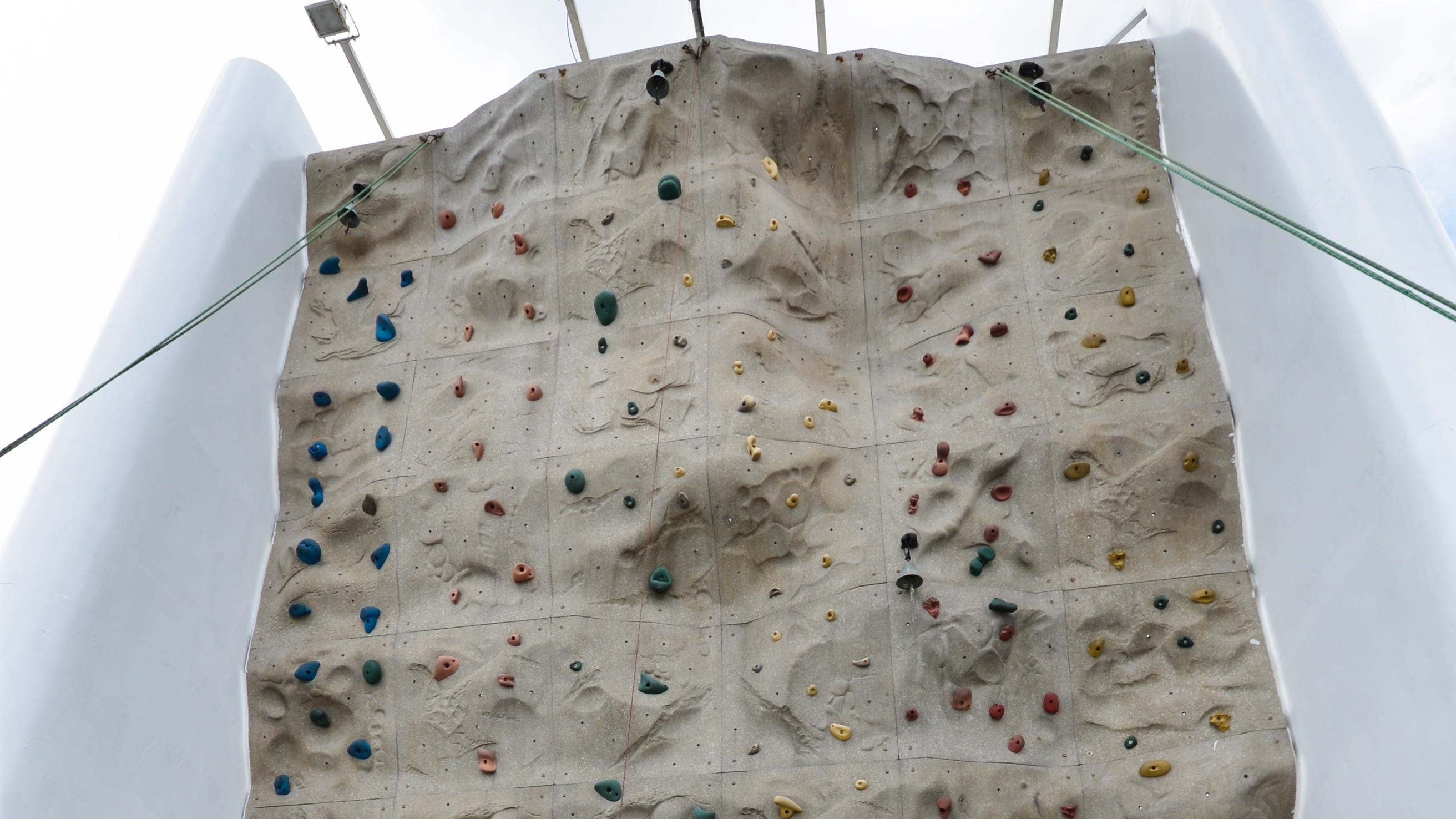 The top deck of Grandeur of the Seas also is home to a rock climbing wall, located at the very back of the vessel.