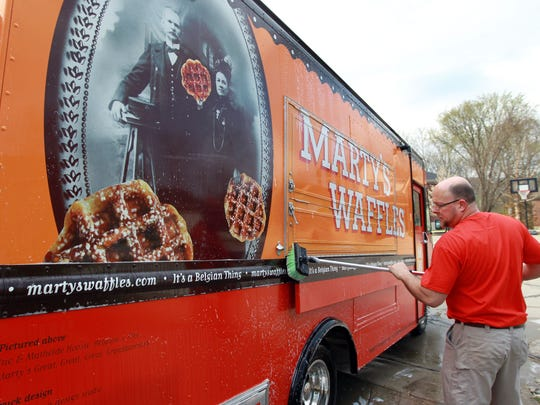 Marty's Waffles is one of the food trucks joining the lunchtime concert lineup in Springfield Township this summer.