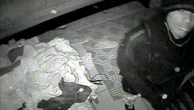 Surveillance image of a suspect in a Lehigh Acres burglary