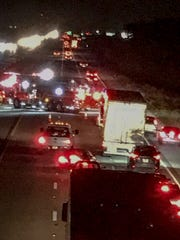 An accident on I-95 Saturday night brings traffic to