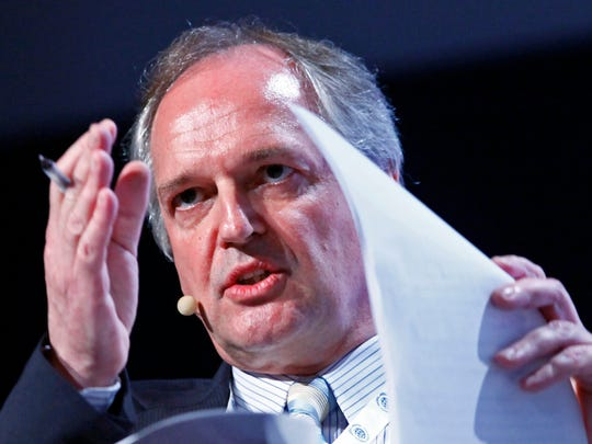 In this June 24, 2010, file photo, Paul Polman, CEO of Unilever, speaks at the Global Compact Leaders Summit in New York. (AP Photo/Mark Lennihan, File)