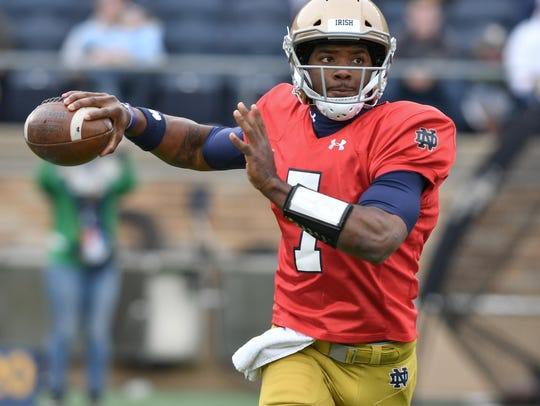 Brandon Wimbush needs to find consistency to hold off