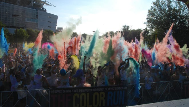 A previous Color Run 5K in Cincinnati.
