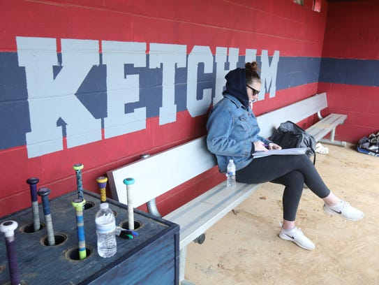 Helena Van BenSchoten keeps the books during a Ketcham