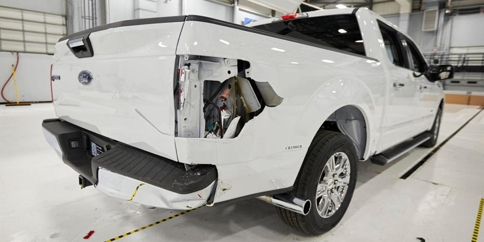 Mixed crash-test results for aluminum Ford F-150s