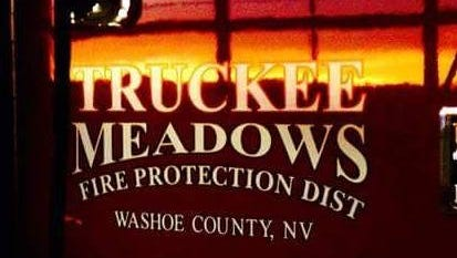 The Truckee Meadows Fire Protection District is battling a wildfire west of the Spanish Springs Airport.