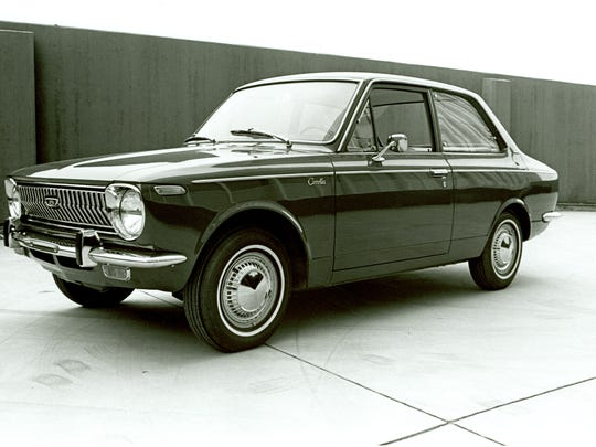 Toyota started Corolla production in November 1966 at its then-new Takaoka Japan factory. This one is from 1968.