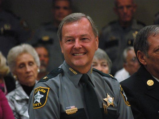 Visiting Sheriff Kevin Rambosk is Collier County's top cop.