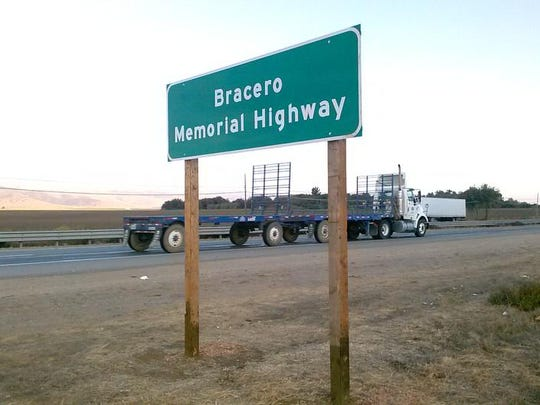 After years of campaigning, a stretch of Highway 101 south of Salinas was dedicated in September as Bracero Memorial Highway, commemorating the Mexican workers who labored to harvest U.S. produce over a 30-year period. A group of more than 30 braceros was killed near this portion of highway when the bus they were riding in was struck by a train in 1963.