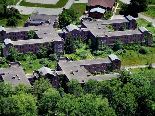 This aerial photograph from June 2010 shows the former Harlem Valley Psychiatric Center in Wingdale.